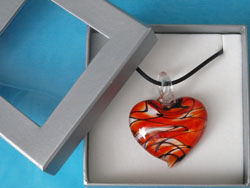 Murano Style Heart Pendant (large)