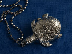 Tortoise Watch Necklace