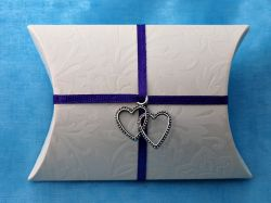 Double Heart Charm Pillow Box Kit